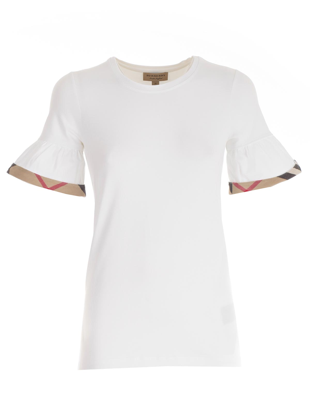 Picture of BURBERRY T-SHIRT SIC88079 T-SHIRT S/SLEEV WITH VOULANT