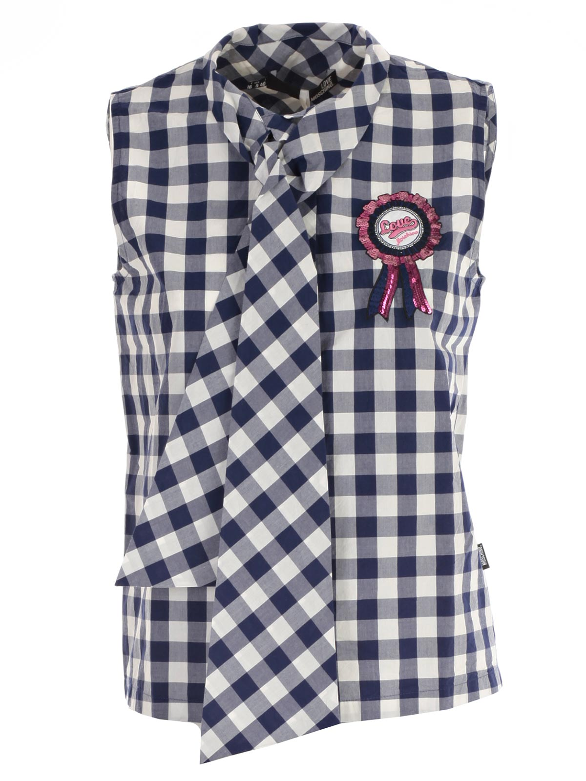 Picture of LOVE MOSCHINO SHIRTS CAMICIA S/M VICHY CON FIOCCO