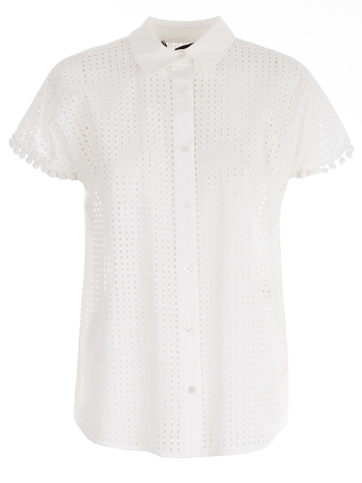 Picture of LOVE MOSCHINO SHIRTS CAMICIA M/C SANGALLO CON PON PON