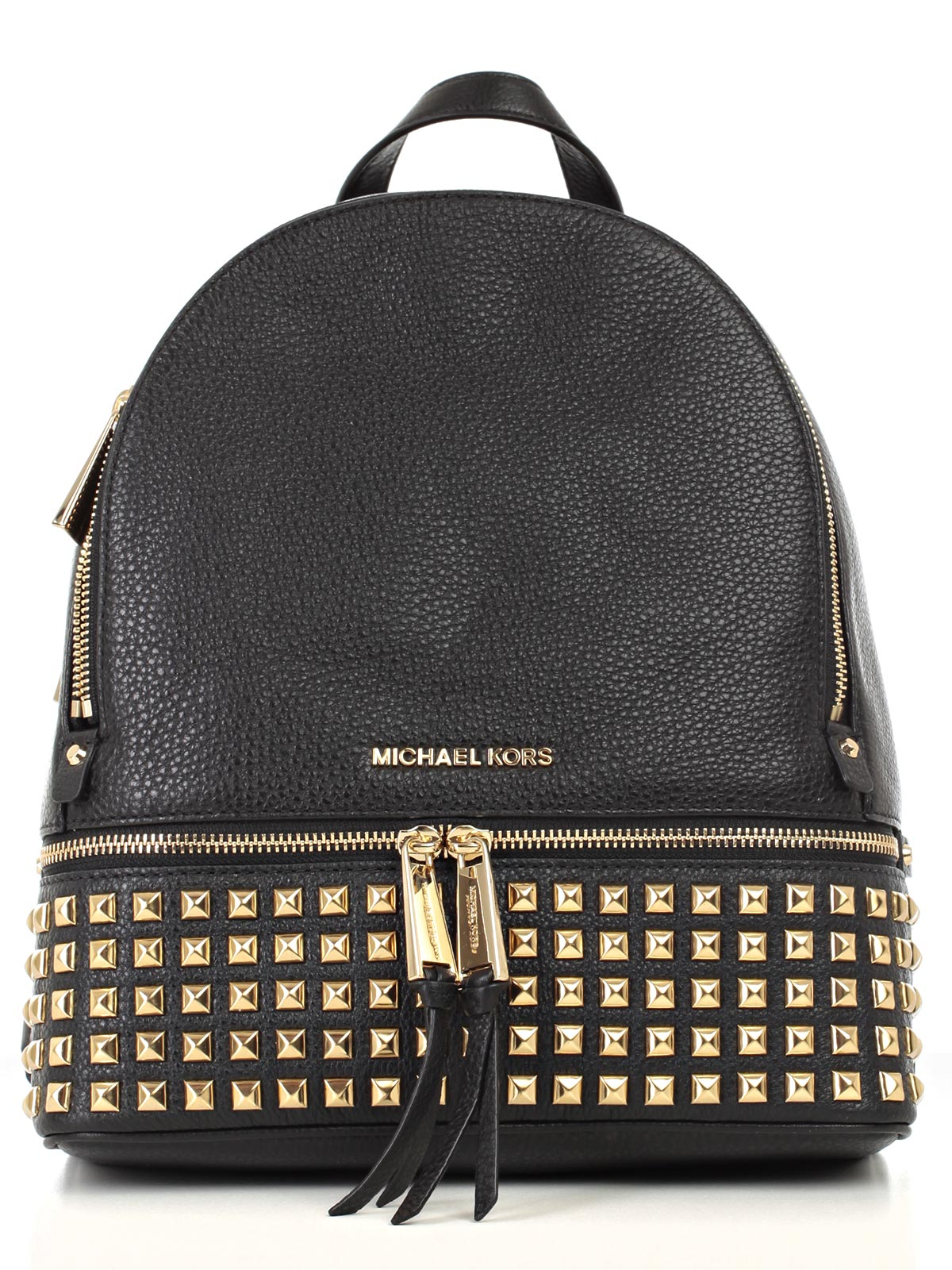 Picture of MICHAEL MICHAEL KORS BAG RHEA ZIP MD PYR STUD BACKPACK ZAINO BORCHIE