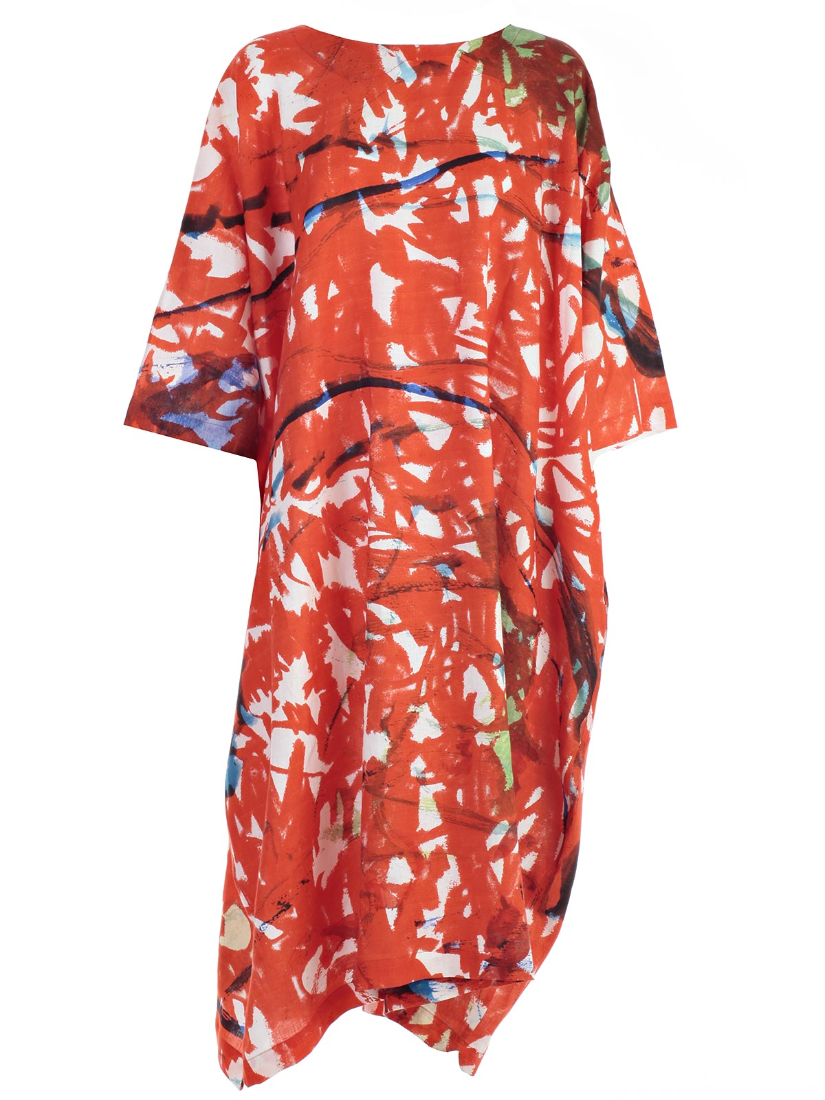 Picture of DANIELA GREGIS DRESS 3/4 SLEEVE PRINTED DRESS