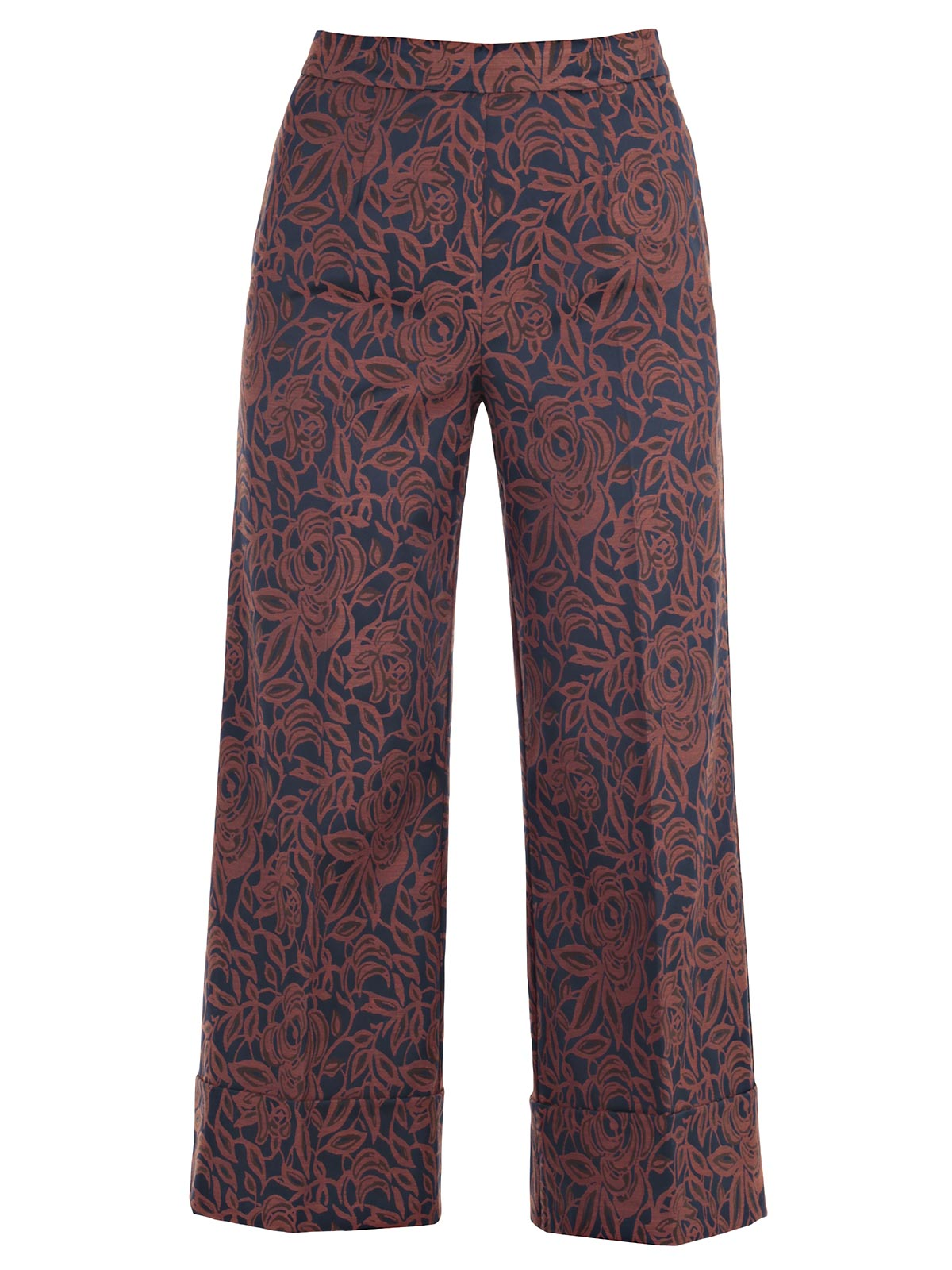 Picture of TWIN-SET TROUSERS PANTALONE RISVOLTO AMPIO E CORTO