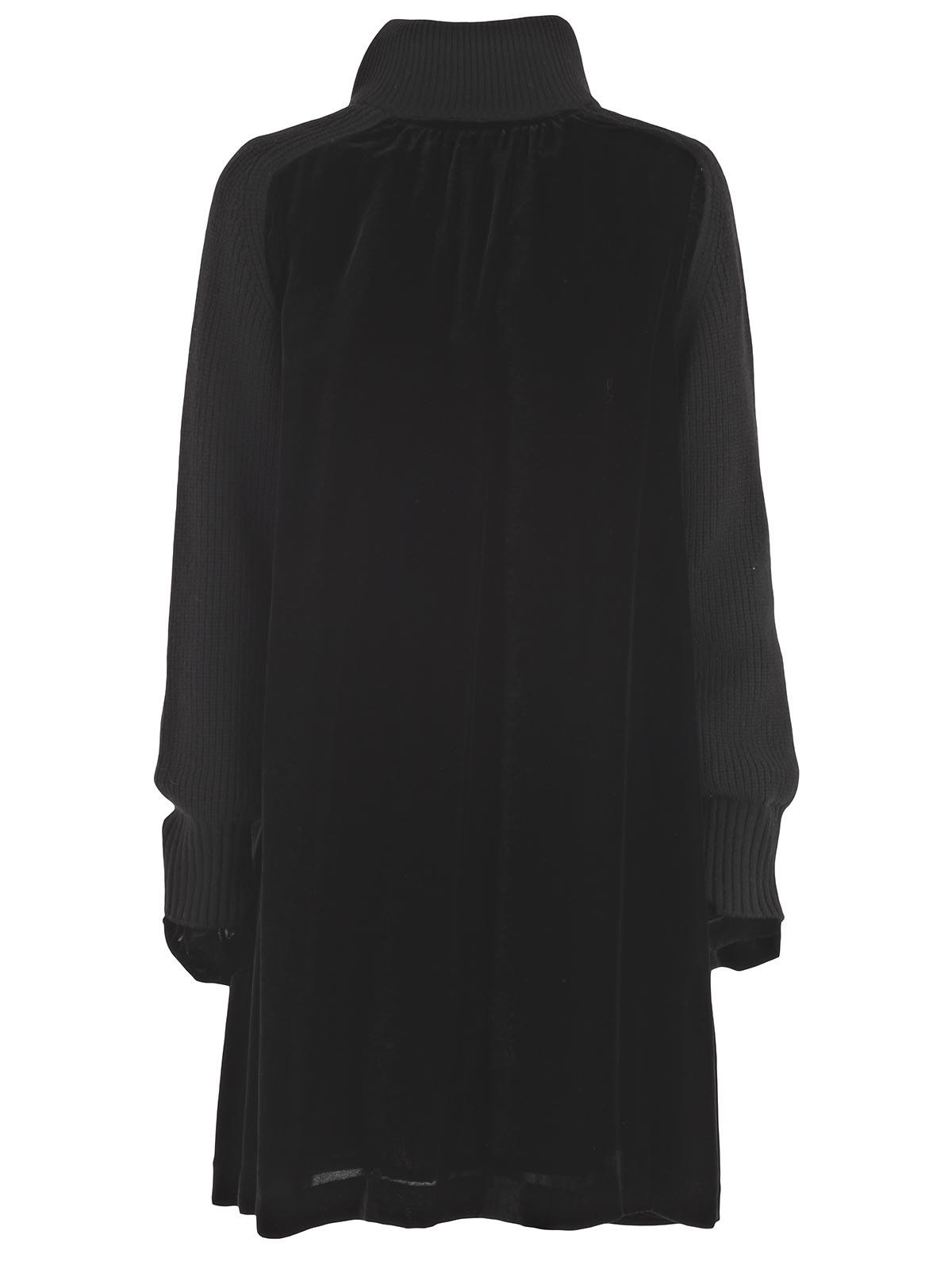 Picture of SACAI DRESS ABITO VELLUTO - MANICHE A COSTE