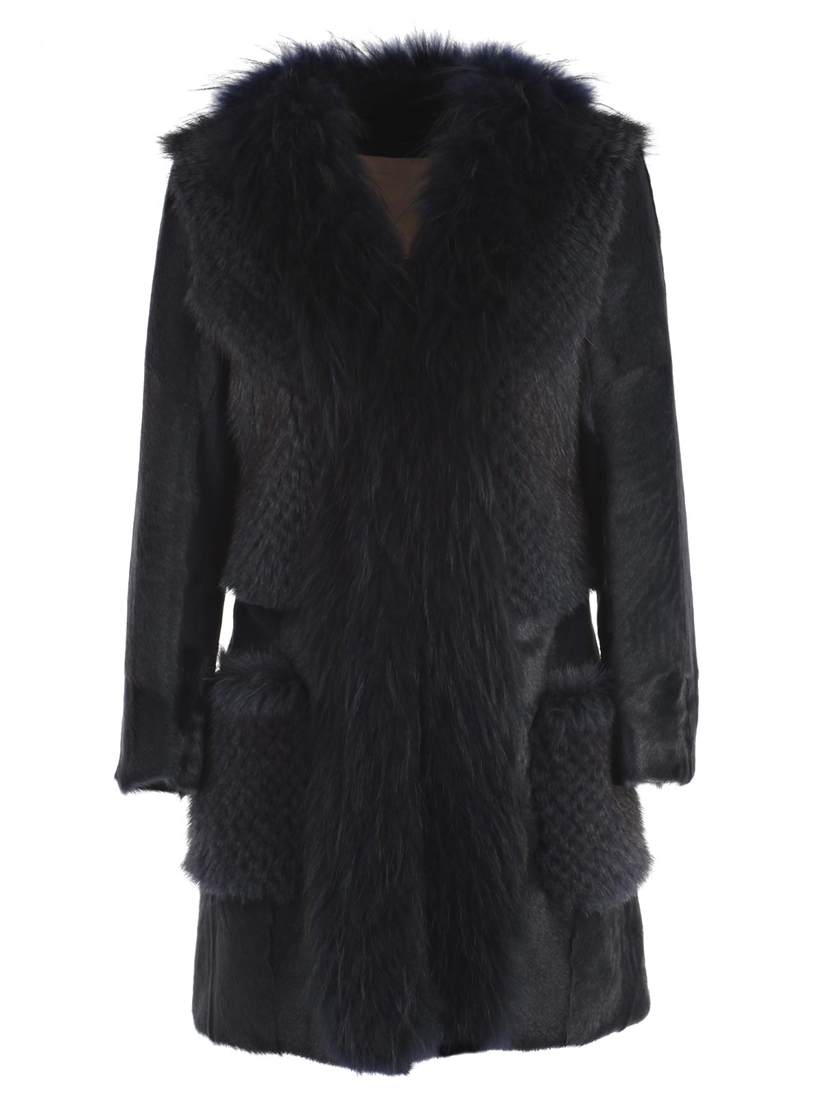 Picture of S.W.O.R.D. COAT CAPPOTTO PATCHWORK PELLICCIA