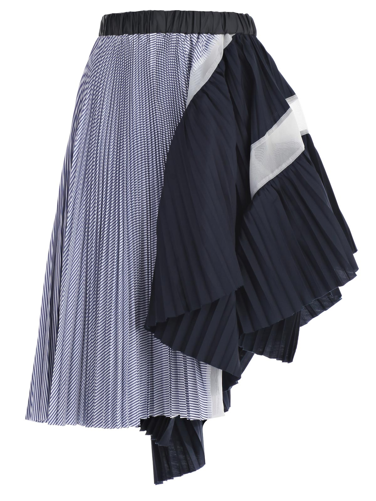 Picture of SACAI SKIRT ASYMMETRIC STRIPED SKIRT