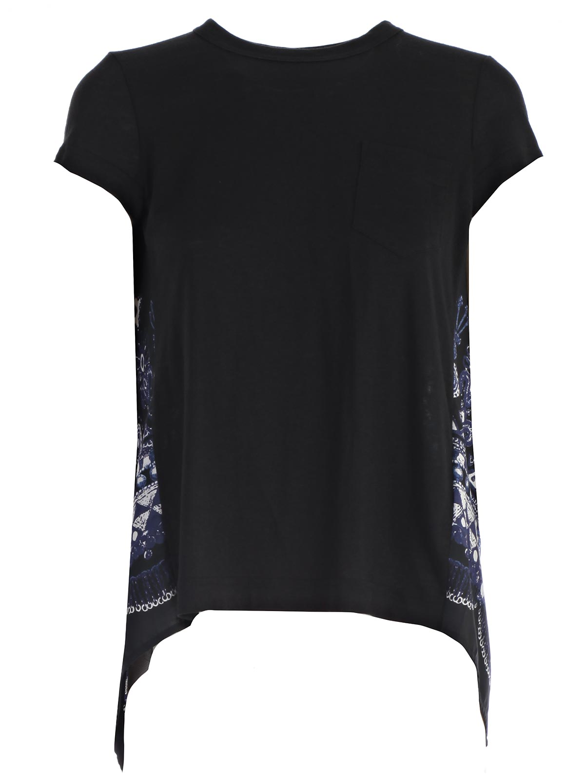 Picture of SACAI T-SHIRT SHORT SLEEVE T-SHIRT W/LACE