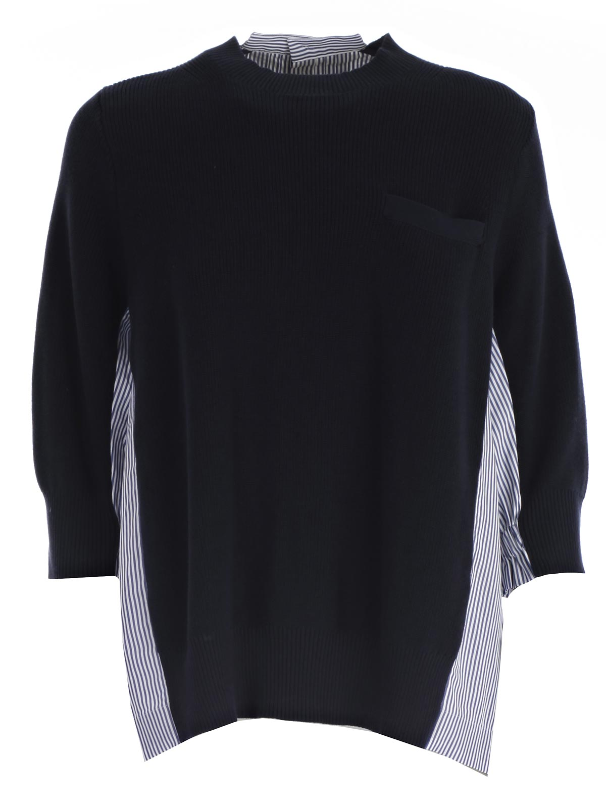 Picture of SACAI JERSEY 3/4 SLEEVE SWEATER ROUND NECK