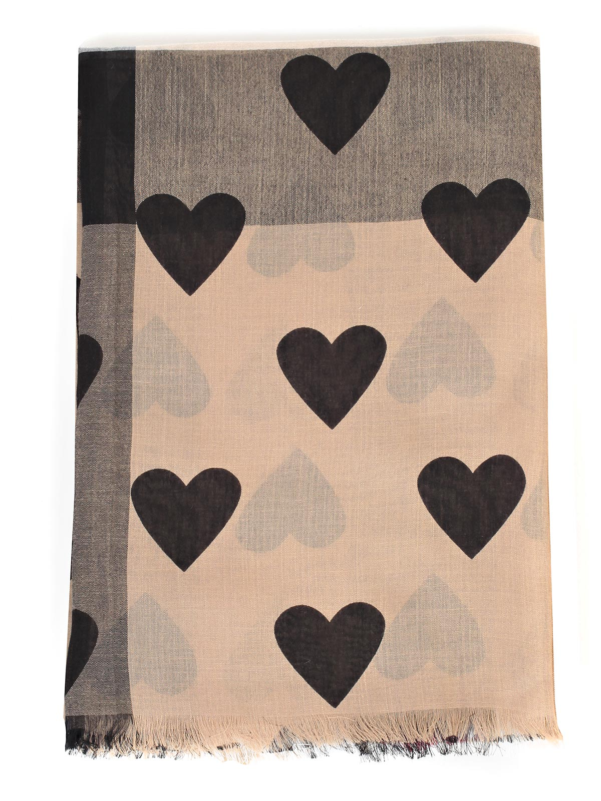 Picture of BURBERRY SCARVES MU HRT OVRPT SHER SCARVES WITH HEARTS
