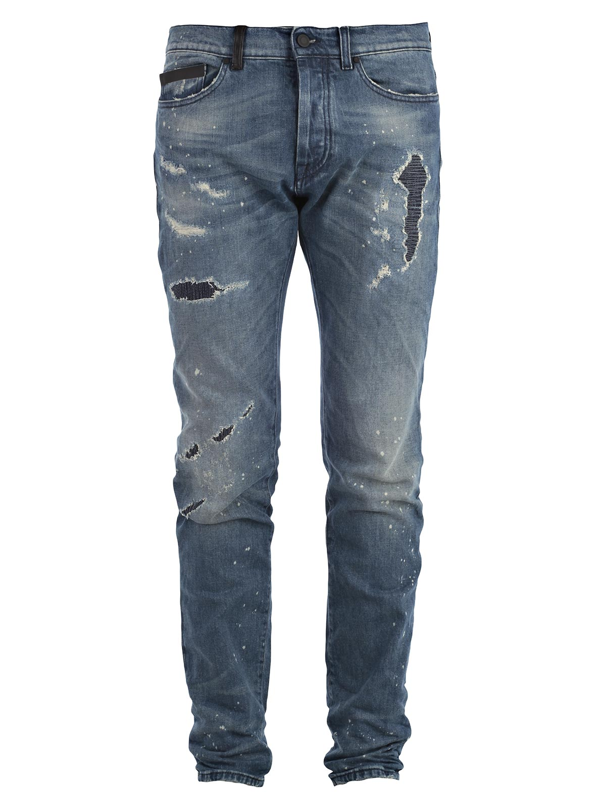 Picture of MARCELO BURLON COUNTY OF MILAN JEANS JEANS SLIM FIT (ROTTI E MACCHIATI)