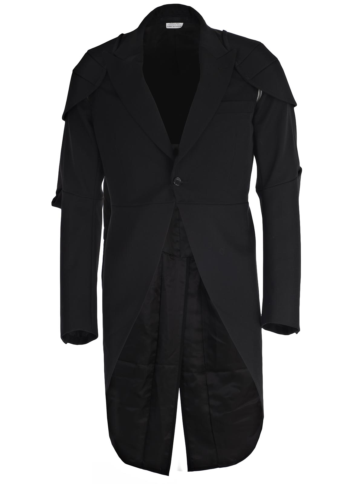 Picture of COMME DES GARCONS HOMME PLUS JACKET GIACCA SMOKING TAGLIO NEL GOMITO + SPALLINE
