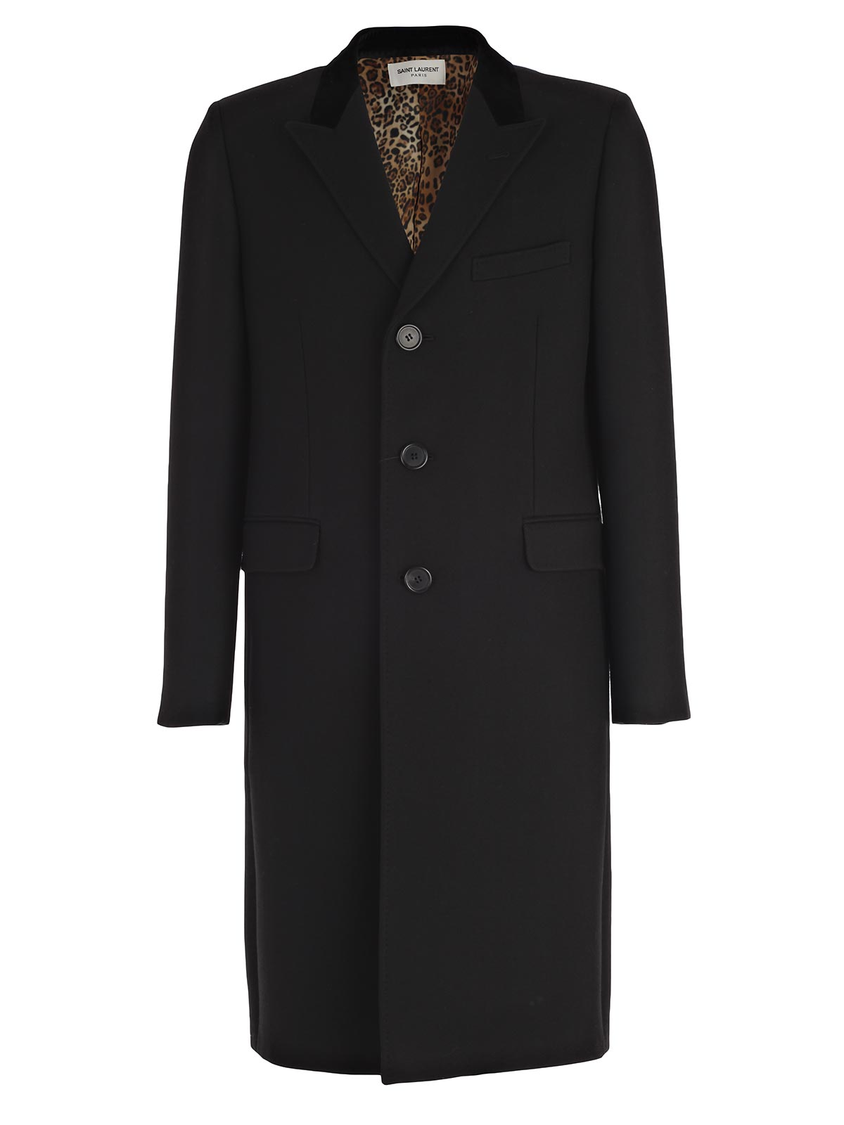 Picture of SAINT LAURENT COAT CAPPOTTO COLLO LANCIA INTERNO LEOPARDO