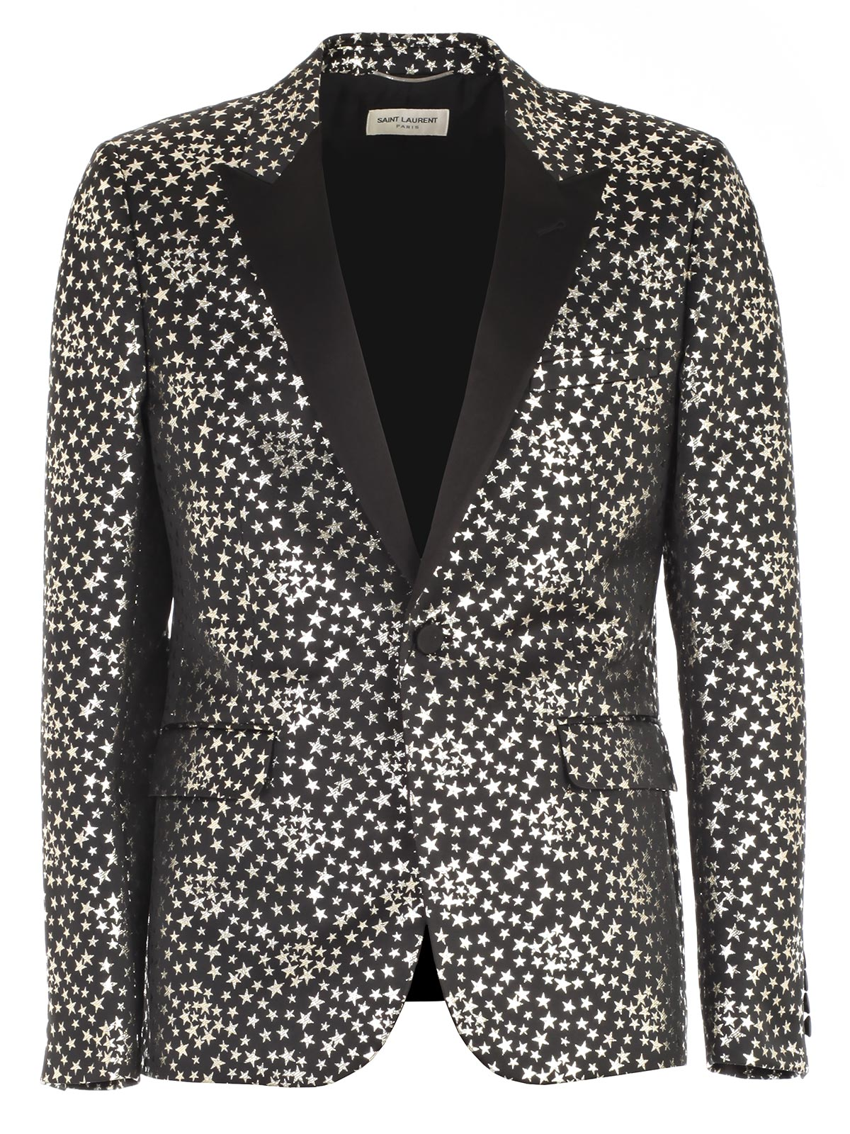 Picture of SAINT LAURENT JACKET GIACCA CON STELLE ARGENTO