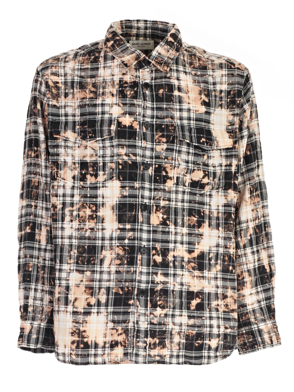 Picture of SAINT LAURENT SHIRT CAMICIA TEXANA - GOFFRATA MALTINTA