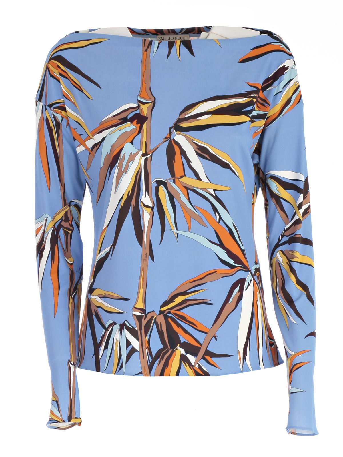 Picture of EMILIO PUCCI TOP T-SHIRT M/L STAMPA BAMBOO