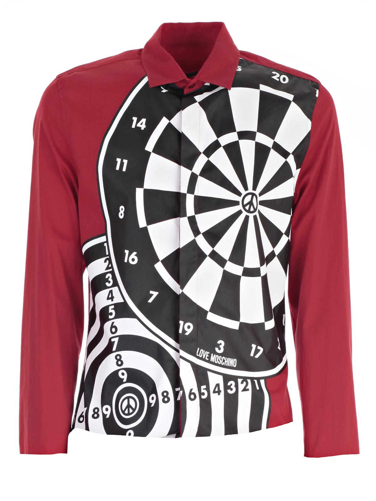Picture of LOVE MOSCHINO SHIRT CAMICIA M/L SLIM FANT.ASTRATTA