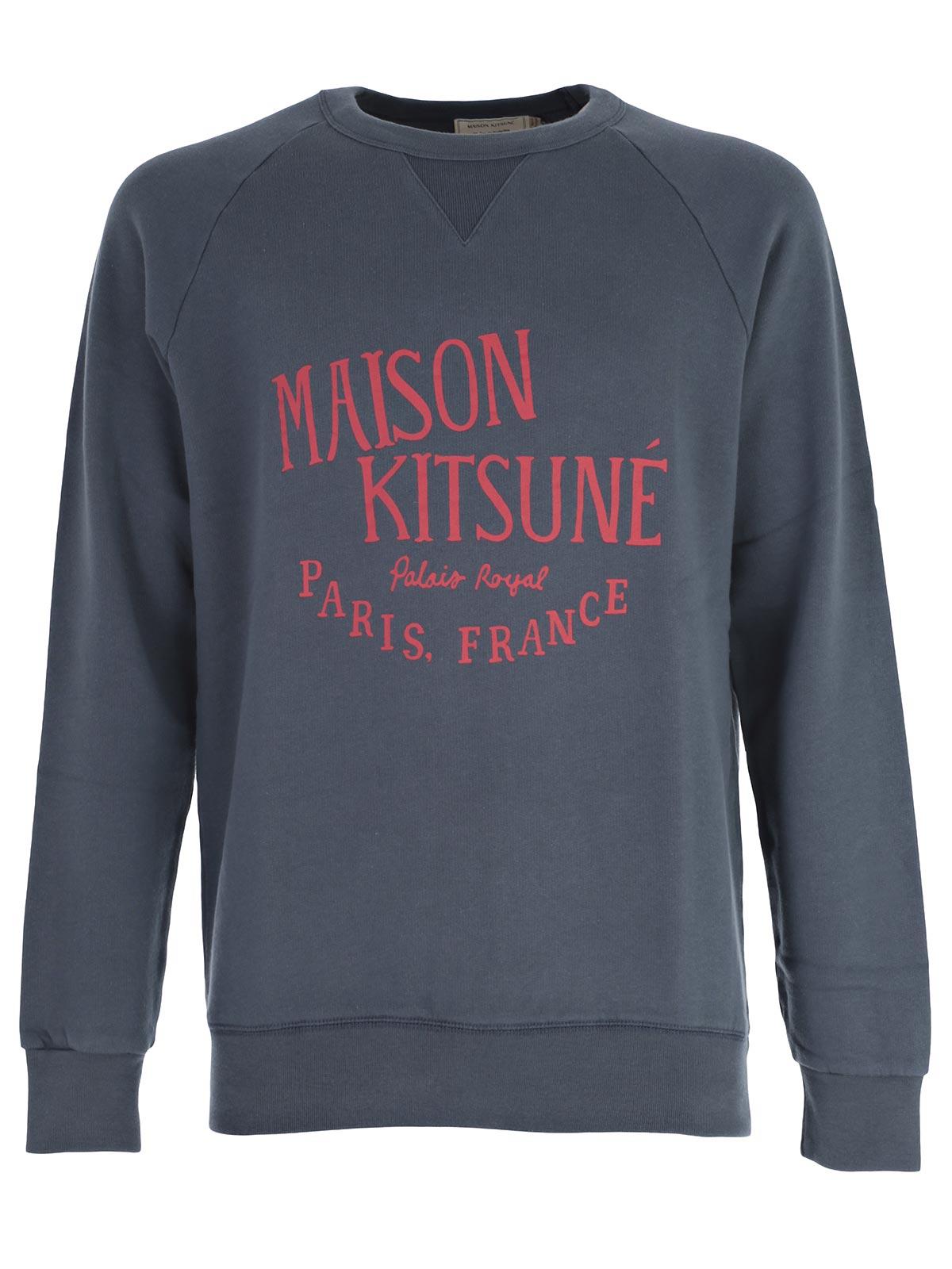 Picture of MAISON KITSUNE SweatShirt FELPA PALAIS ROYAL GIROCOLLO