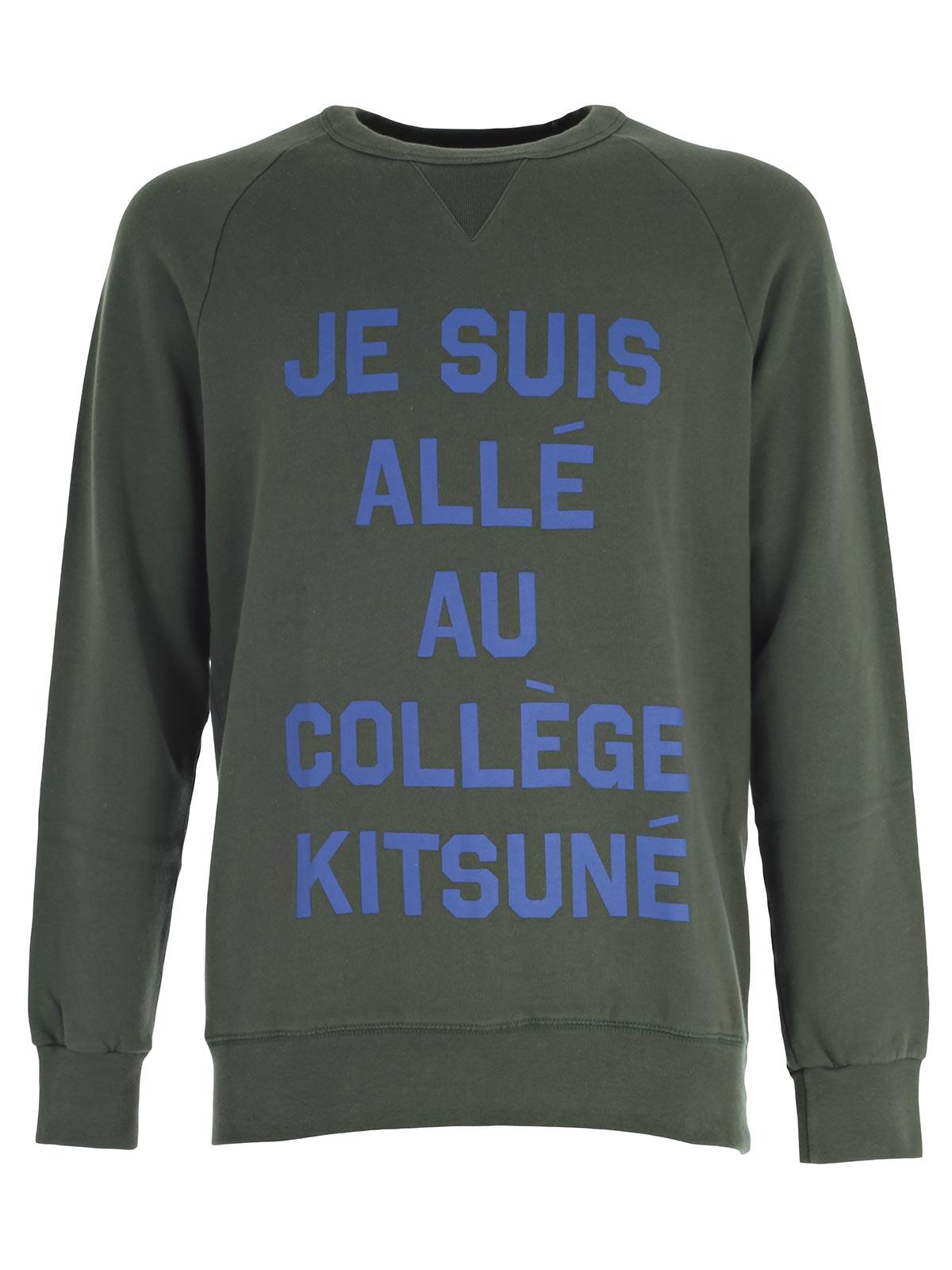 Picture of MAISON KITSUNE SweatShirt FELPA JE SUIS ALLE GIROCOLLO