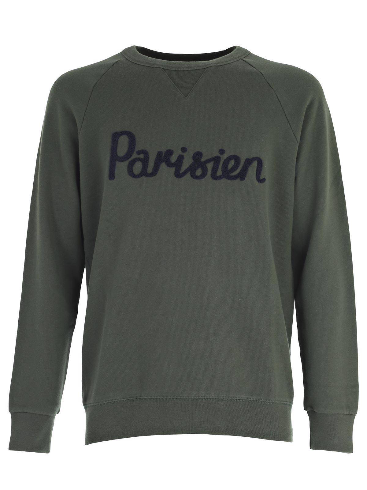 Picture of MAISON KITSUNE SweatShirt FELPA PARISIEN GIROCOLLO