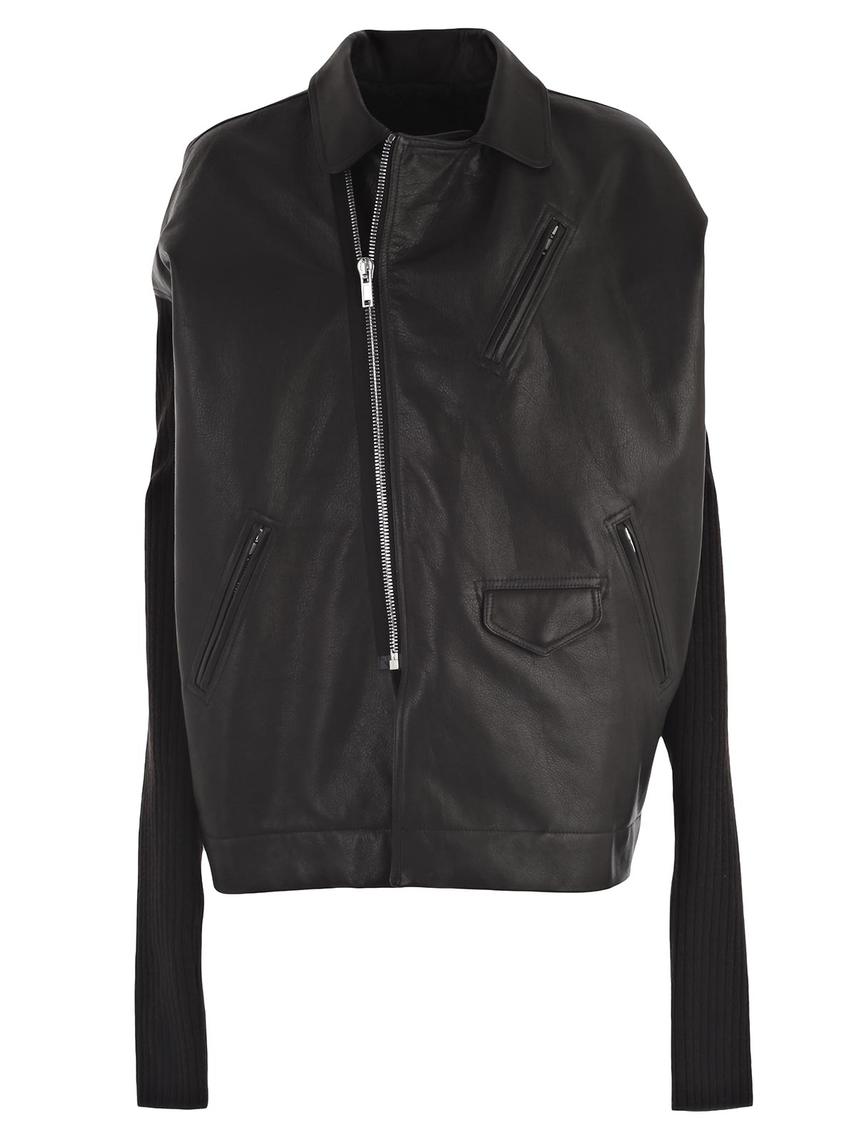 Picture of RICK OWENS JACKET GIACCA (MAXI CHIODO) C/MANICHE A COSTINE