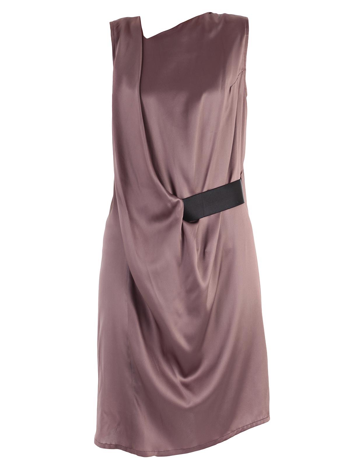 Picture of ANN DEMEULEMESTER DRESS ABITO S/M C/CINTURA LATERALE VISCOSA DI SETA