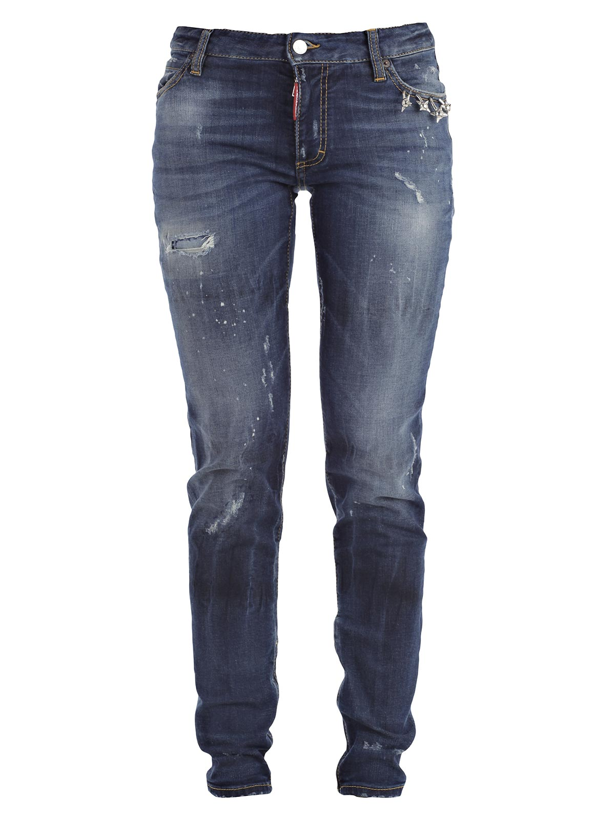 Picture of DSQUARED2 JEANS JEANS MEDIUM WAIST CON PIERCING